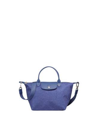 bccf511c1 Longchamp Le Pliage Neo Small Denim-Print Top-Handle Bag