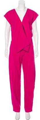 Issa Sleeveless High-Rise Jumpsuit