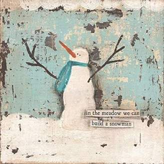 Cassandra Wall Art Import Build A Snowman Poster Print by Cushman (12 x 12)