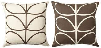 Orla Kiely Linear Stem Reversible Cushion Chocolate