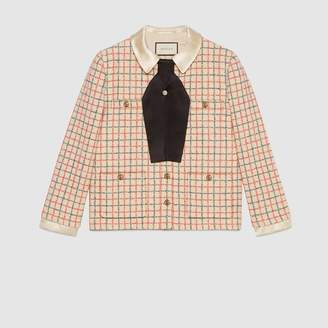 Gucci Bouclé jacket with bow