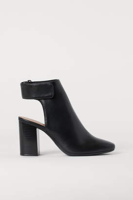 H&M Open-heeled Boots - Black