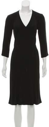 Narciso Rodriguez Long Sleeve Midi Dress