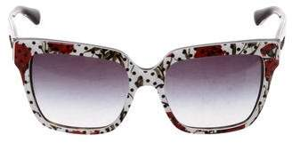 Dolce & Gabbana Floral Logo Sunglasses
