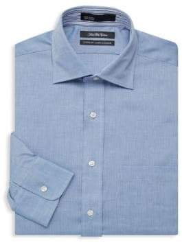 Saks Fifth Avenue Classic-Fit Chambray Dress Shirt