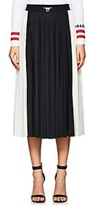 Valentino Women's Lace-Inset Pleated Midi-Skirt - Black