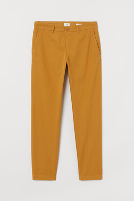 H&M Slim Fit Cotton Chinos - Yellow