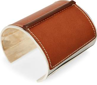 Ralph Lauren Leather-Silver Cuff