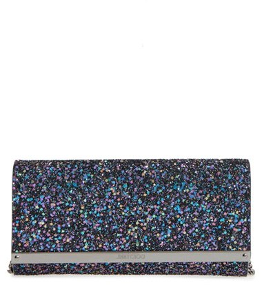 Jimmy Choo Women's Jimmy Choo Milla Glitter Wallet On A Chain - Blue/green