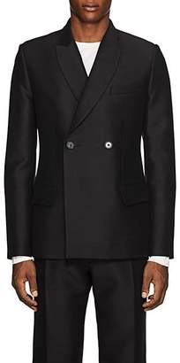 Martin Grant Men's Wool-Silk Double-Breasted Tuxedo Jacket - Black