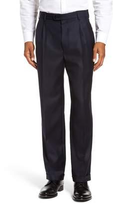 Zanella Bennett Regular Fit Pleated Trousers