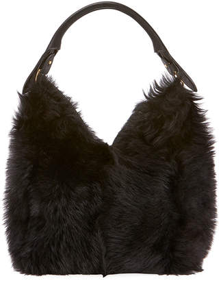 Anya Hindmarch Build A Bag Small Shearling Hobo Bag