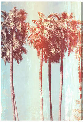 Bay Isle Home 'Palm Tree Dream' Graphic Art on Wrapped Canvas