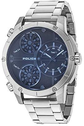 Police Men's Analogue Quartz Watch with Stainless Steel Strap 14699JS/02M