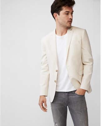 Express slim khaki striped blazer