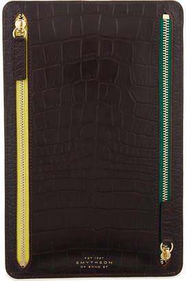 Smythson Mara leather currency case