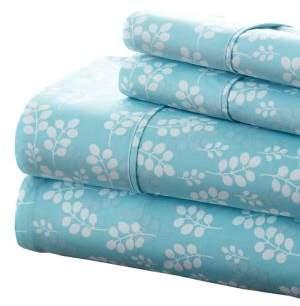 Blissful Bedding Premium Ultra Soft Wheat-Pattern Four-Piece Bed Sheet Set