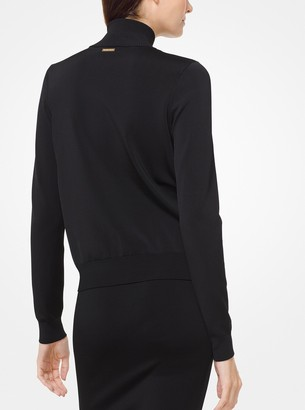 MICHAEL Michael Kors Embroidered Stretch-Viscose Track Jacket