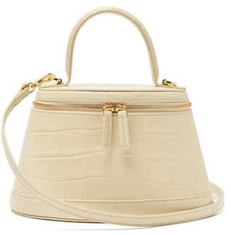 BY FAR Annie Crocodile Effect Leather Bag - Womens - Cream