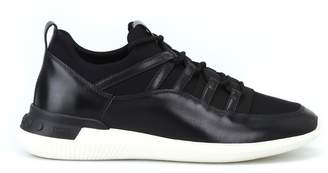 b8e749f38c099a Tod s No-code Sneakers In Leather And Scuba-effect Fabric