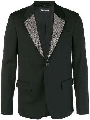 Just Cavalli studded lapel blazer