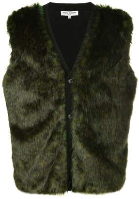 Opening Ceremony faux fur buttoned gilet