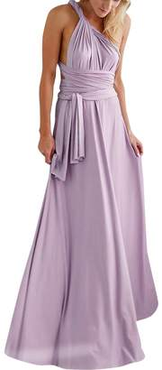 OwlFay Women Evening Long Dress Infinity Convertible Multi Way Wrap Wedding Bridesmaid Dresses Party Pageant Cocktail Ball Prom Gown Summer Beach Maxi Sundress Lady Transformer Bandage Dress S