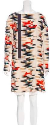 Cacharel Geometric Chiffon Dress