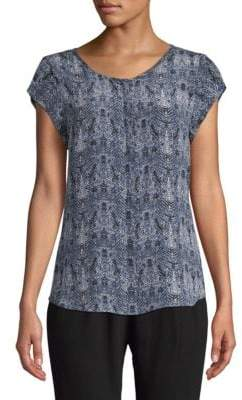 Joie Iva Printed Silk Blouse