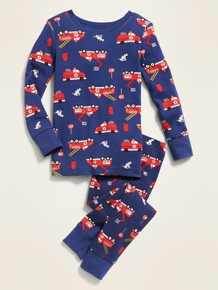 Old Navy Fire Truck-Print Sleep Set for Toddler Boys & Baby