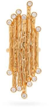 Venini The Attico Crystal Ring - Womens - Gold