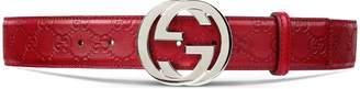 Guccissima belt with interlocking G $395 thestylecure.com