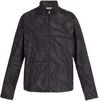 Bottega Veneta Intrecciato-print windbreaker jacket