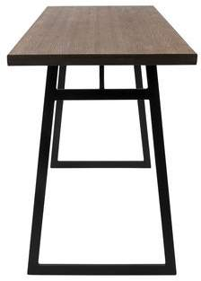 Gracie Oaks Platane Industrial Counter Height Dining Table