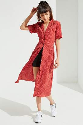 Urban Outfitters Button-Down Midi Shirt Dress