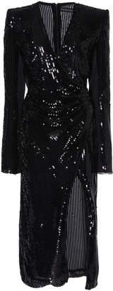 David Koma Long Sleeve Sequin Dress
