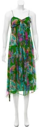 Miguelina Sleeveless Chiffon Dress