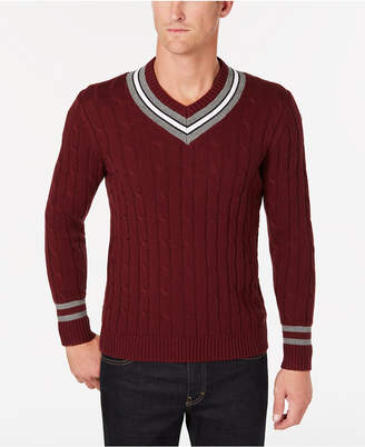 Club Room Men's Cricket V-Neck Sweater