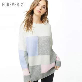 Forever 21 (フォーエバー 21) - Forever 21 カラーブロックブラッシュドセーター