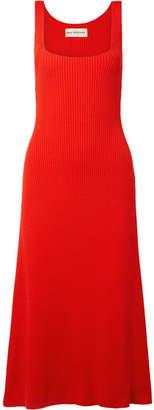 Mara Hoffman Vita Ribbed Organic Cotton Midi Dress - Red