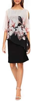 Wallis Blush Magnolia Sheer Popover Dress