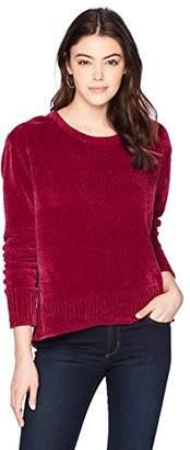 Paris Sunday Women's Oversized Chenille Crewneck Sweater