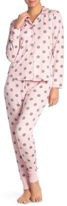Couture PJ Pink\u002FGrey Polka Dot Pajama Set
