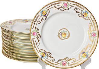 One Kings Lane Vintage Antique Dinner Plates - Set of 12 - Portfolio No.6