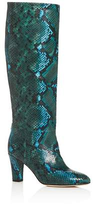Sarah Jessica Parker Women's Rayna Snake-Embossed High-Heel Boots - 100% Exclusive