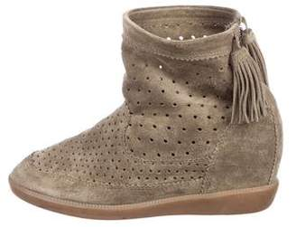 2e27fb0e57dd Pre-Owned at TheRealReal Isabel Marant Basley Suede Perforated Ankle Boots