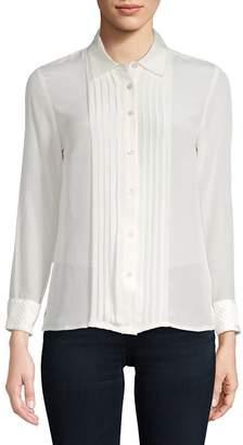 Robert Graham Women's Gloria Silk-Blend Button-Down Shirt