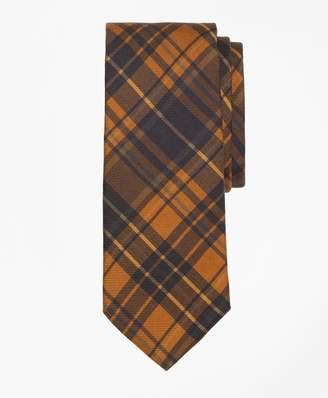 Brooks Brothers Ancient Madder Plaid Print Tie