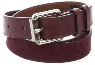 Marc Jacobs Suede Buckle Belt