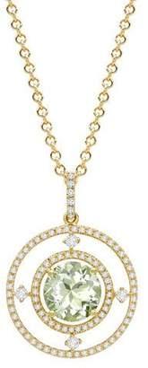 Kiki McDonough Apollo Green Amethyst & Diamond Pendant Necklace